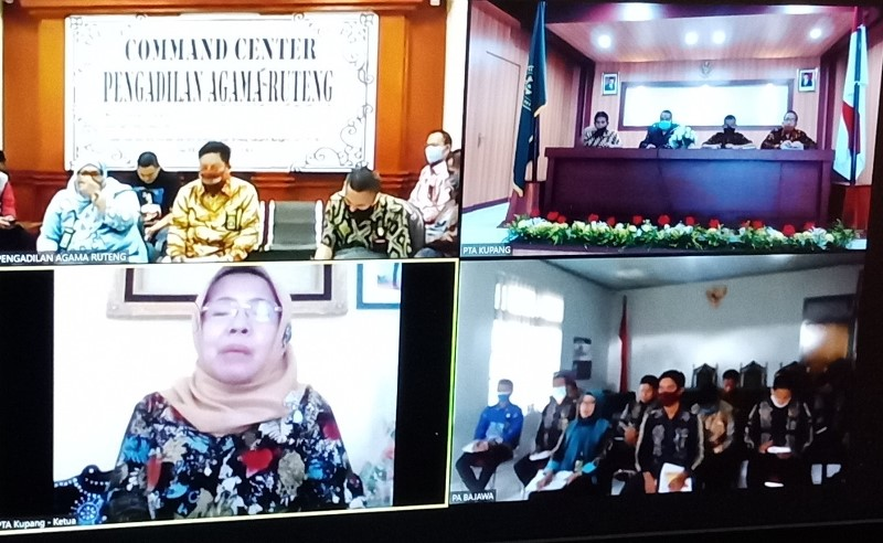 Pimpinan PTA Nusa Tenggara Timur Kembali Laksanakan Pembinaan dan Pengawasan Secara Virtual | (29/5)
